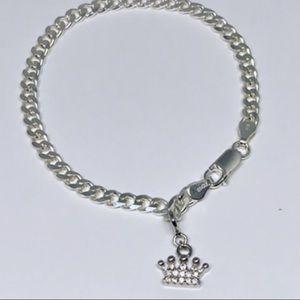 925 Sterling silver royalty bracelet